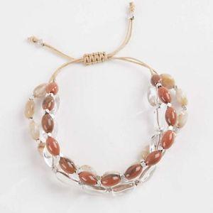 J. Jill Very Pretty Glass & Stone Stretch Bracelet